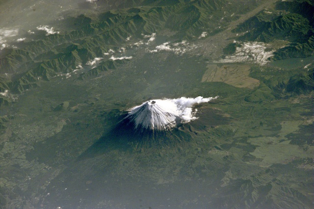 mount Fuji from iss