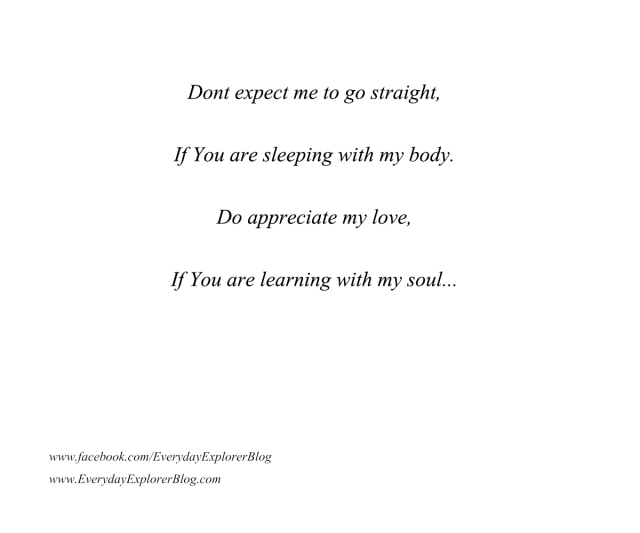 poetry - dont expect me to go straight