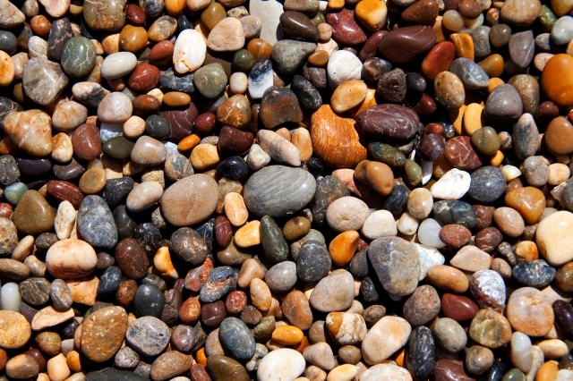 Pebbles on the beach